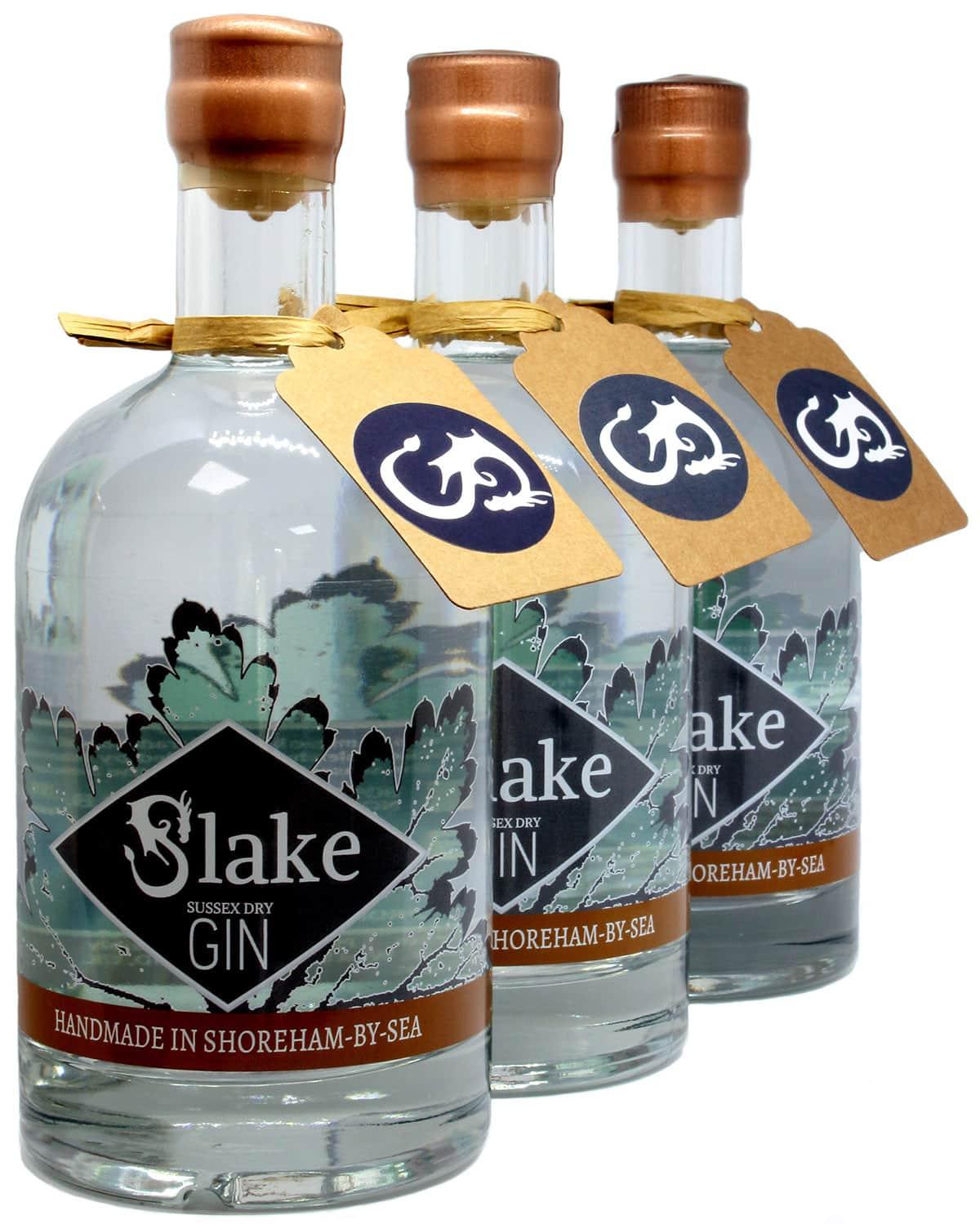 Slake Spirits English Sussex Dry Gin Trio