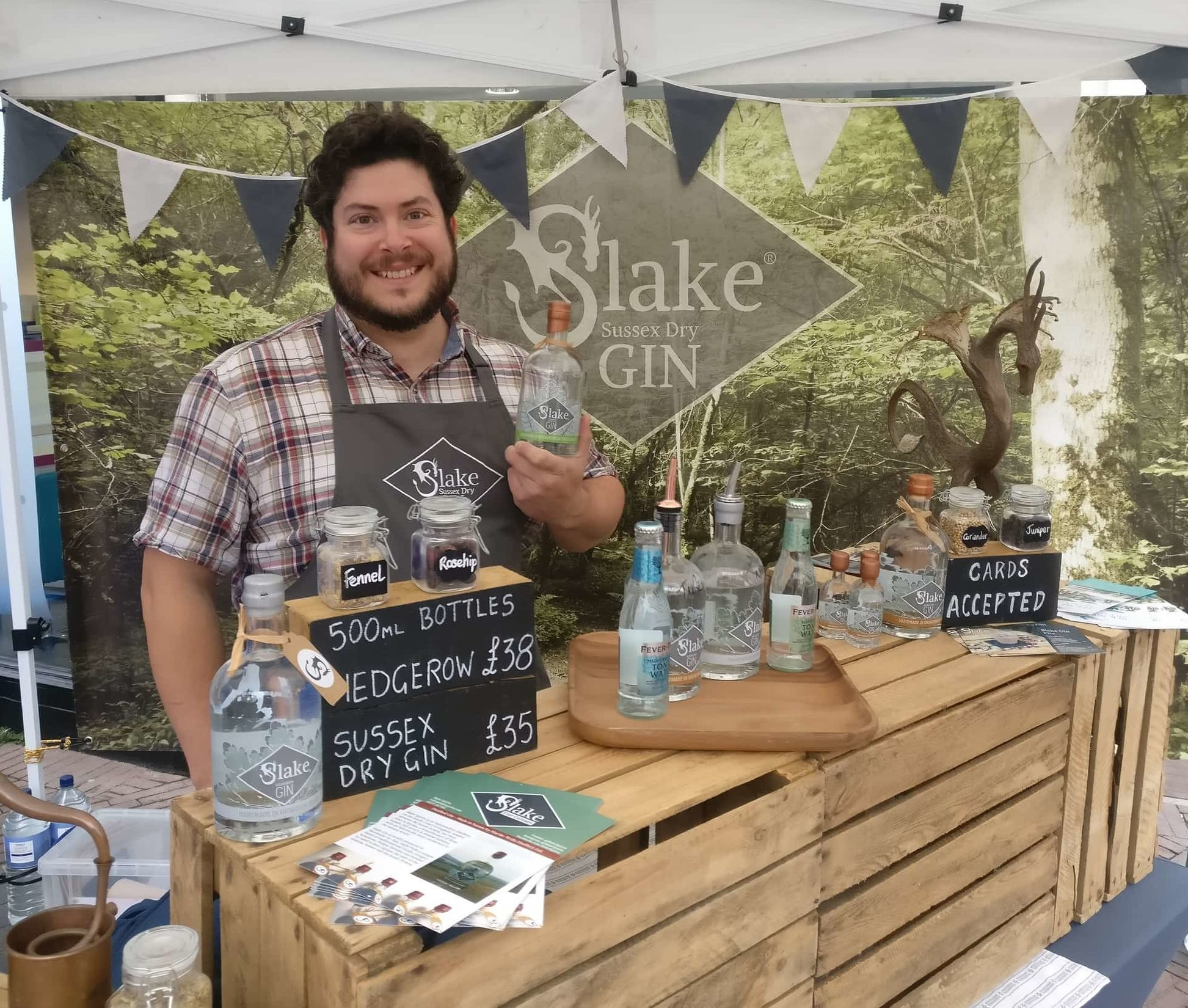 Slake stand at Worthing Artisan Market