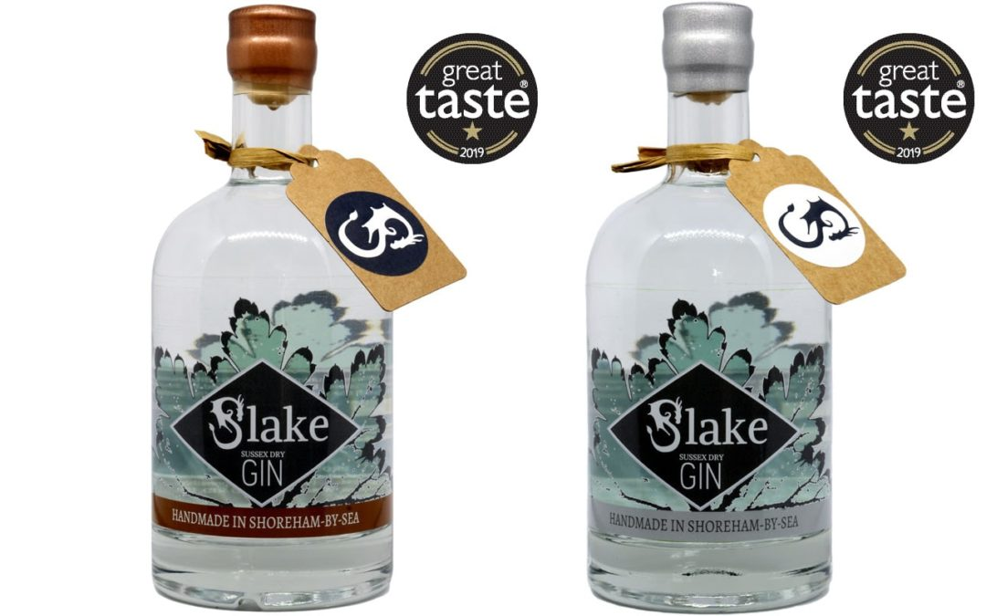 Slake Spirits Sussex Gin wins two 1-star Great Taste Award 2019