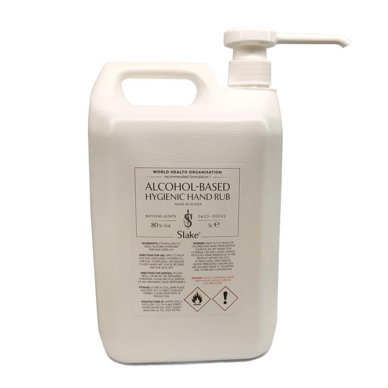 Product image for 5 litre lotion pump hand sanitizer dispenser by Slake Spirits