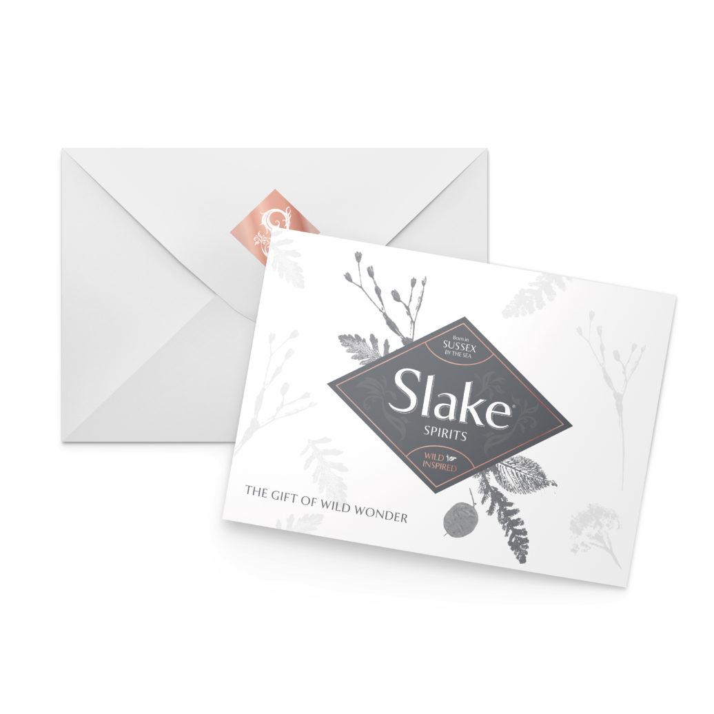 Slake Spirits Gift Voucher and Envelope Front