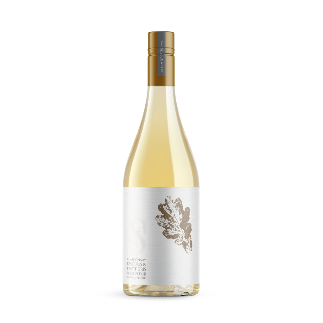 Wild Elixir Chardonnay, Bacchus and Pinot Gris Oak-aged Sussex Aperitif bottle 750ml