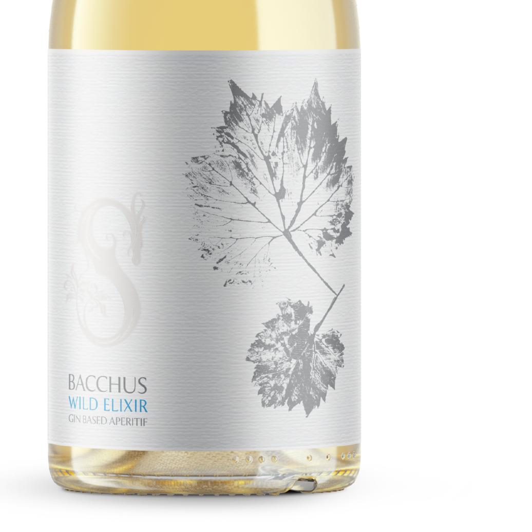 Wild Elixir Bacchus Gin-based Sussex Aperitif Label Closeup