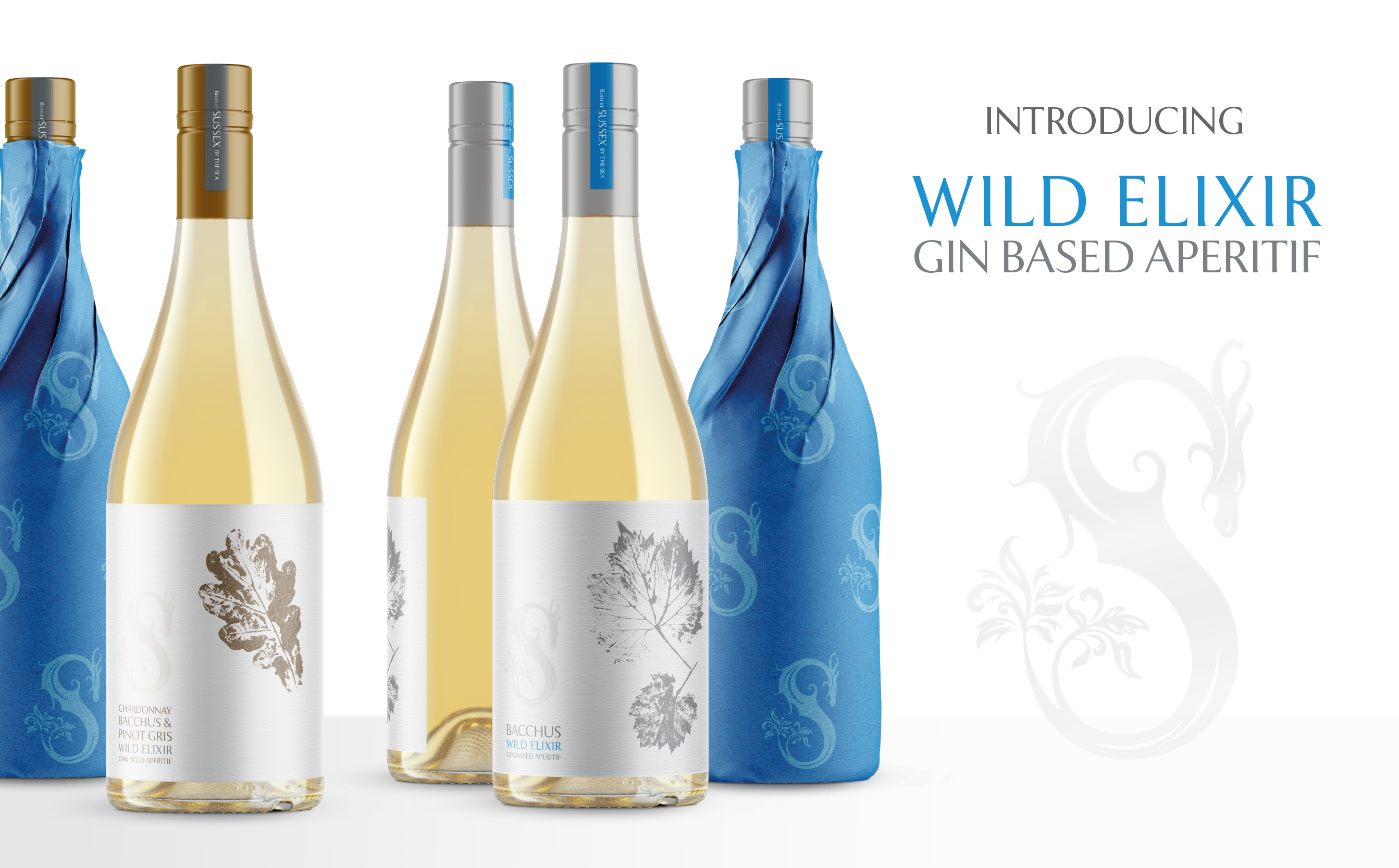 Introducing Wild Elixir by Slake Spirits. Our new range of Sussex aperitifs.