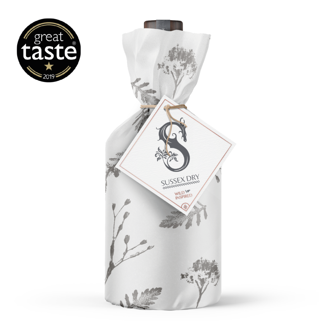 Slake Spirits Sussex Dry Gin Bottle Wrapped
